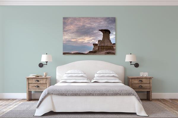 Bedroom wall decor. Drumheller Canvas by Larry Jang, Canadian Photographer.