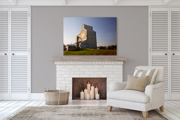 Canvas print of the Barrhead Grain Elevator. Home decor ideas for  rustic farmhouses by Larry Jang.