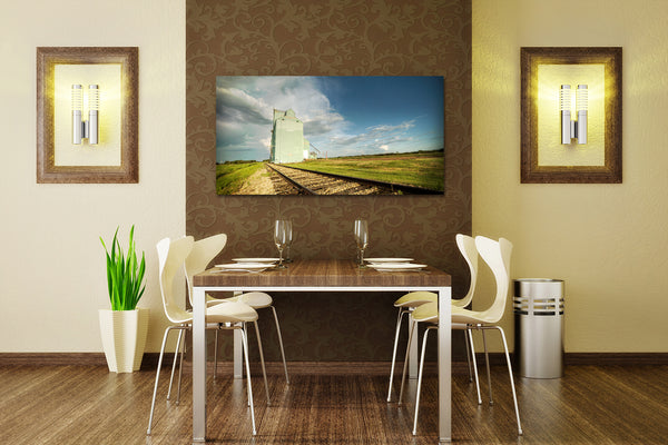 Bawlf Photo Print Hanging in Dining Room