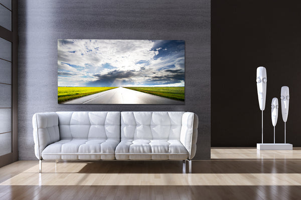 Stunning wall decor big canvas print of canola highway