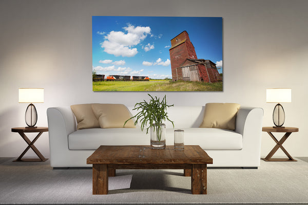 Big train print for living room wall.