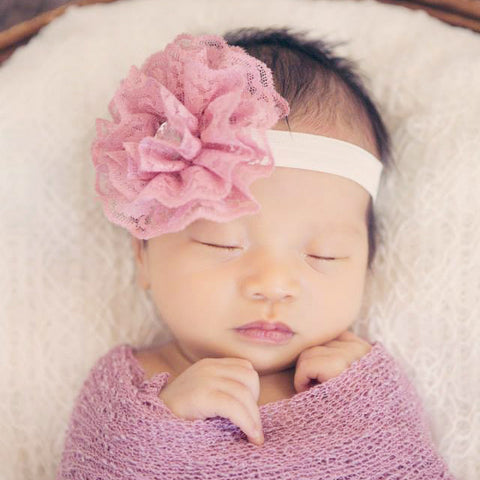 Ruffle Flower Headband
