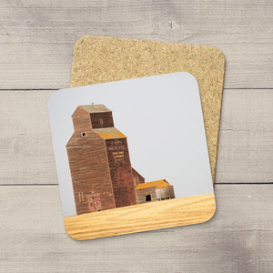 Coasters of Alberta Wheat Pool grain elevator in Warwick by Larry Jang.