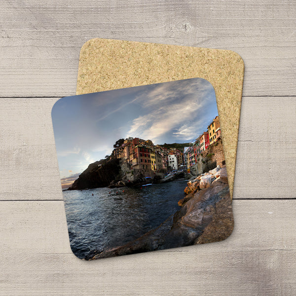 Photo Coasters of Riomaggiore in Cinque Terre Italy by Photographer Larry Jang