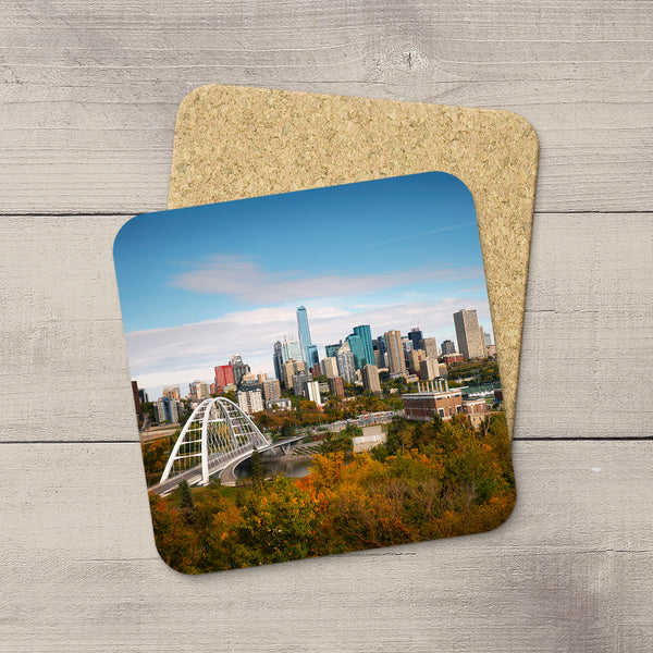 Photo Coasters of the Edmonton City Skyline in the Autumn by YEG Photographer Larry Jang