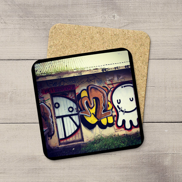 Photo Coasters. Picture of graffiti art in Reykjavik Iceland by Christina Jang.