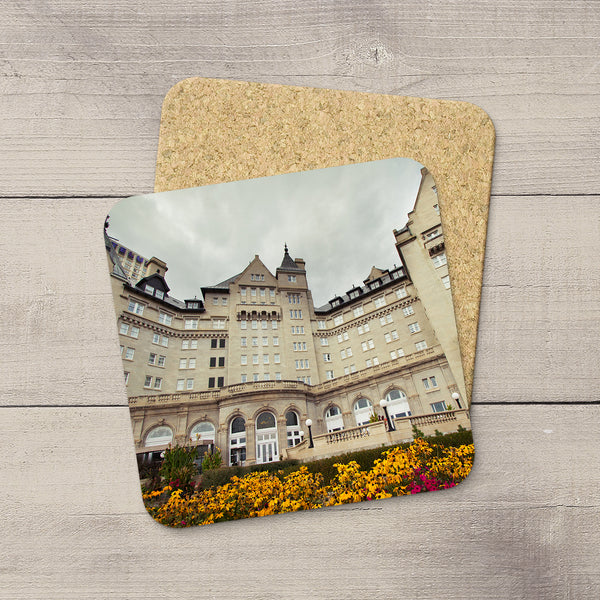 Home Accessories. Drink Coasters featuring Fairmont Hotel MacDonald. Handmade in YEG by acclaimed Alberta artist & Photographer Larry Jang.