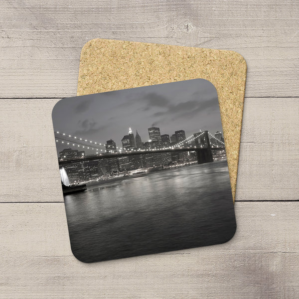 Photo coasters of New York City in black & white by Larry Jang.