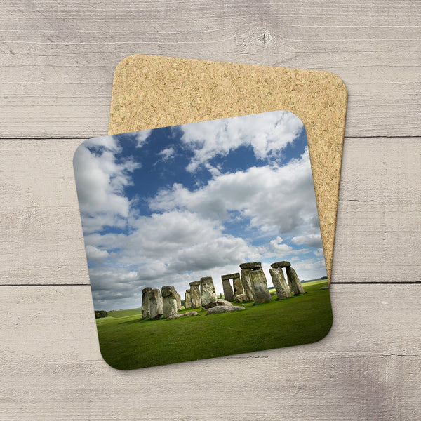 Photo Coasters of the famous Stonehenge monument in Wiltshire, England.  Souvenirs & travel themed home accessories. Handmade in Edmonton, Alberta by Canadian photographer & artist Larry Jang.