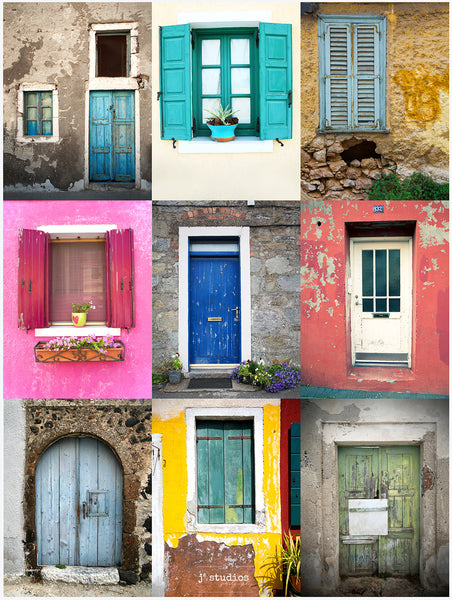 Doors and Windows Collage
