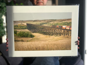 "Train Crossing Trestle 16x22"" Fine Art Paper Print"