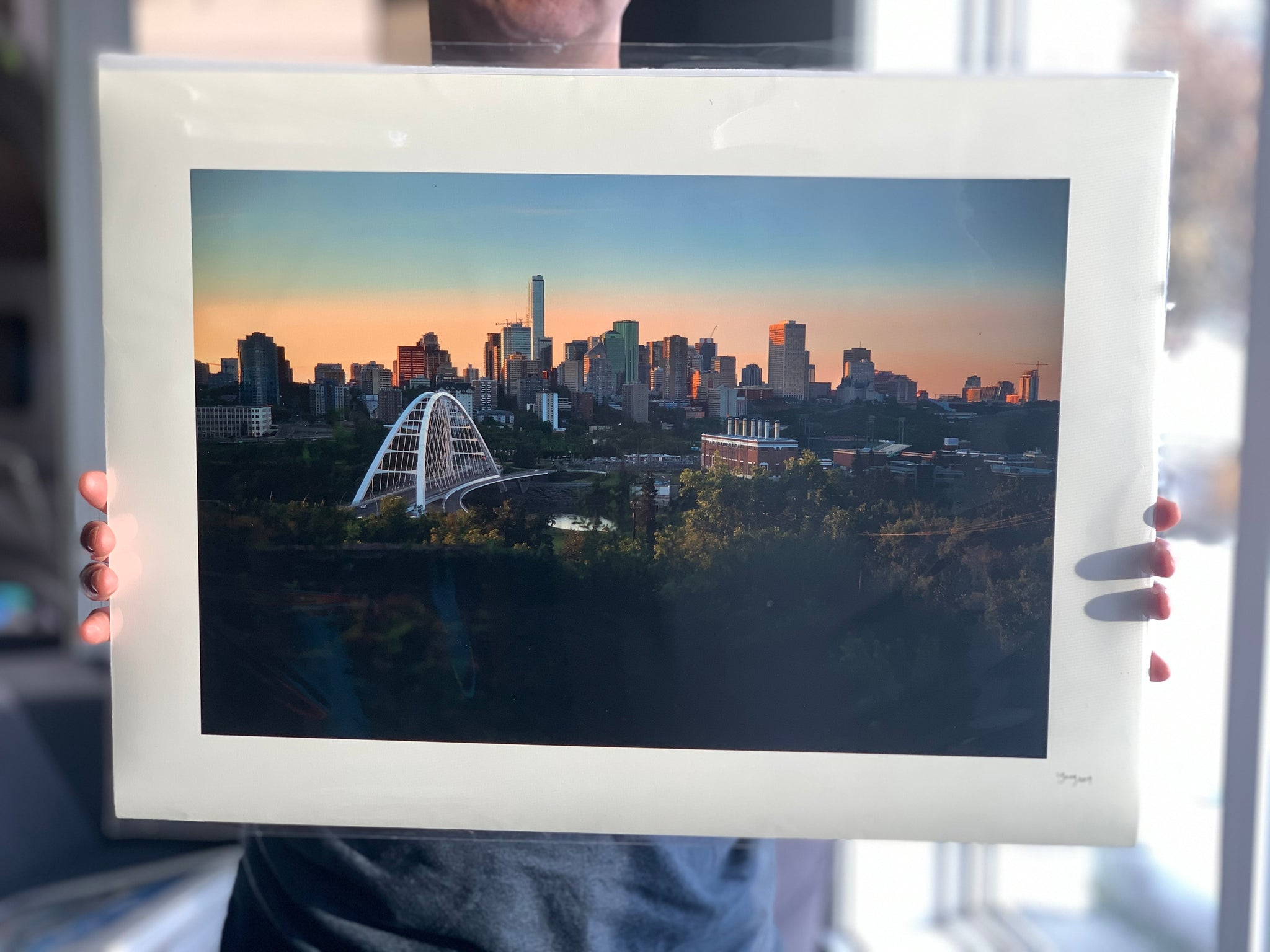 "Edmonton Skyline at Sunset 16x22"" Fine Art Paper Print"