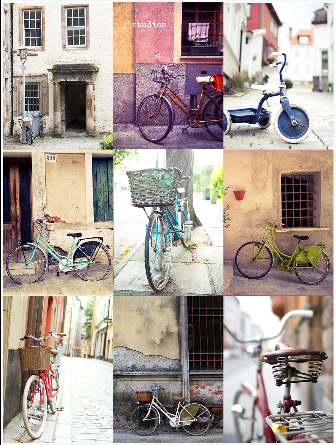 Bikes of the World Collage