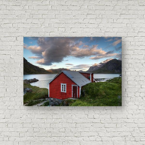 Red Cabin on the Fjord