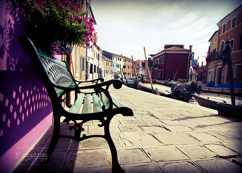 Bench in Burano