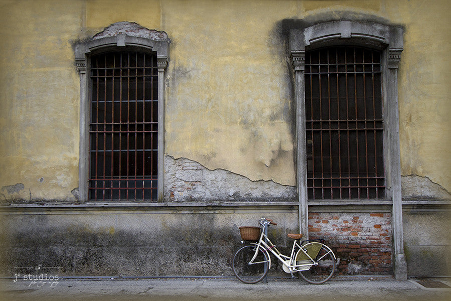 Charming in Lucca, Italy, Bike art print