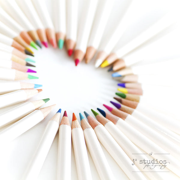 Crayons's Heart is an art print with themes of love and innocence.