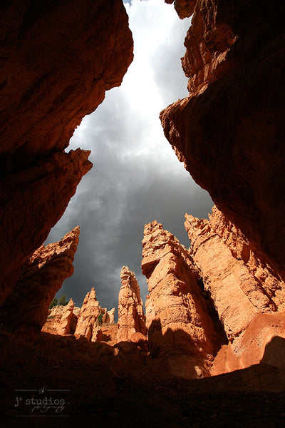 Down Wall Street is an image of Navajo Sandstone cliffs in Bryce Canyon, Utah. Desert Photography.