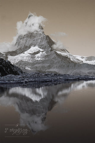 Matterhorn Reflections is an art print of the famous Toblerone® mountain in Switzerland.