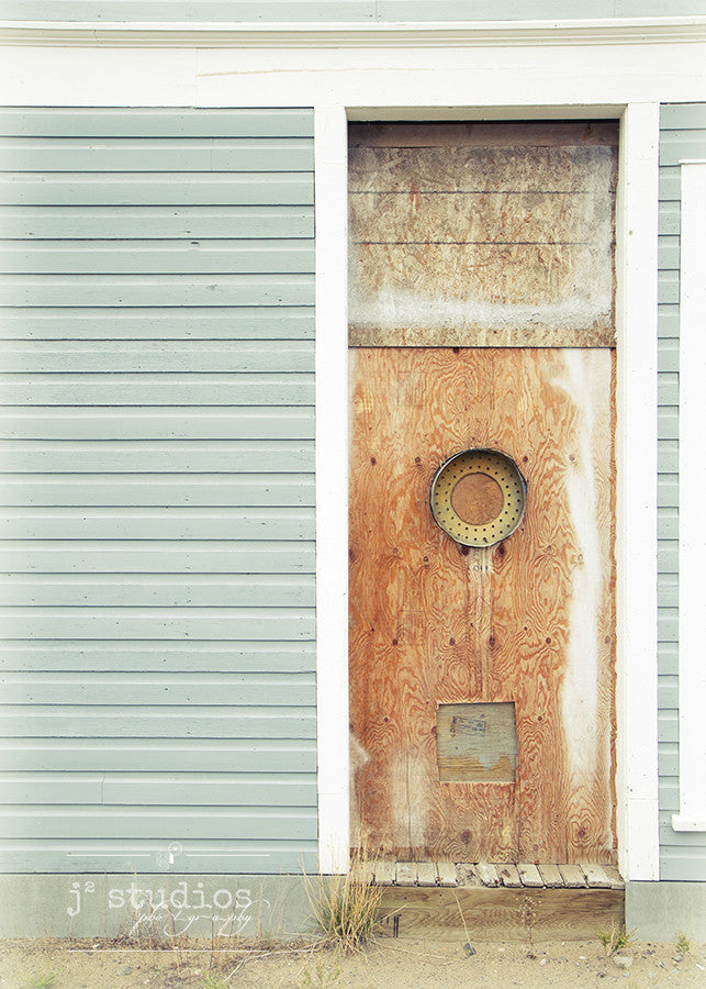 Mint Weathered Condition is an art print of a door in Yukon Territory.
