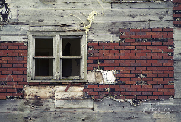 Ramshackle Past #1 is an art print of the layers of an abandoned home in Saskatchewan. Heritage inspired photography.