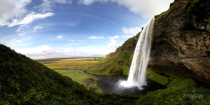 Image of Seljalandsfoss, a beautiful waterfall in Iceland. Landscape Photography.