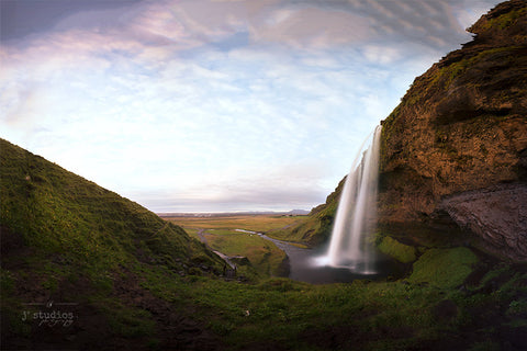 In A Place Called Seljalandsfoss is an image of the famous waterfall in Southern Iceland. Landscape Photography.