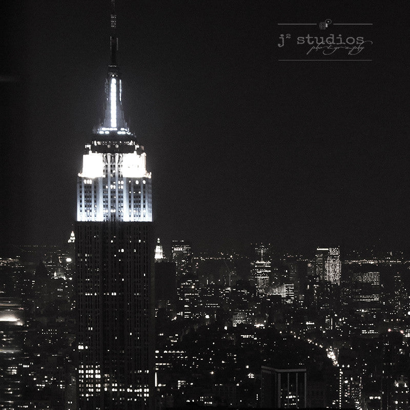 Empire State Building is a black and white art print of the famous New York landmark.