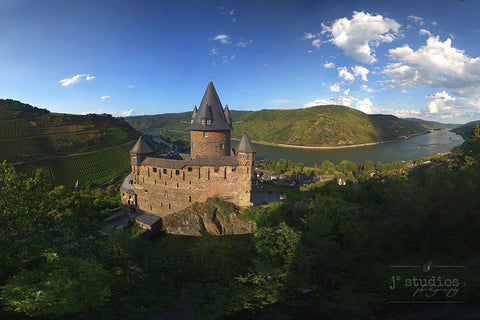 Stahleck on the Rhine is an image of a castle on the Rhine River of Germany. Travel Photography.