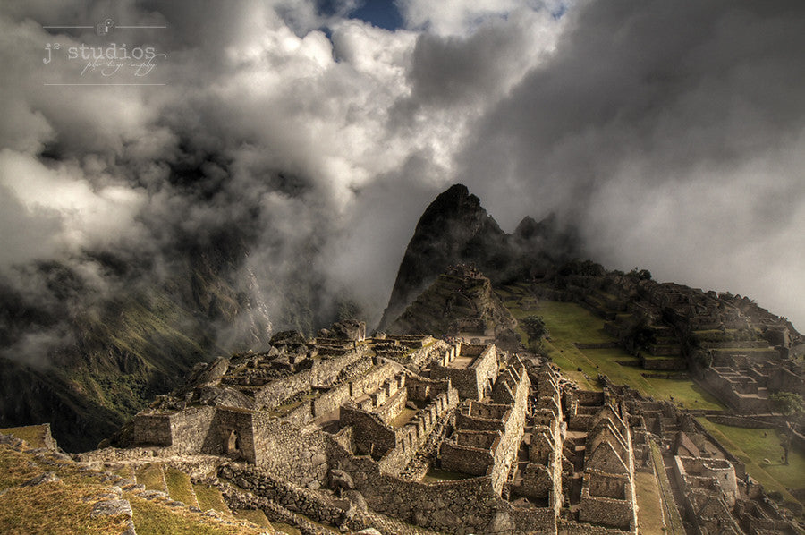 Sunlit Fortress - Peru Photography Art Print Machu Picchu
