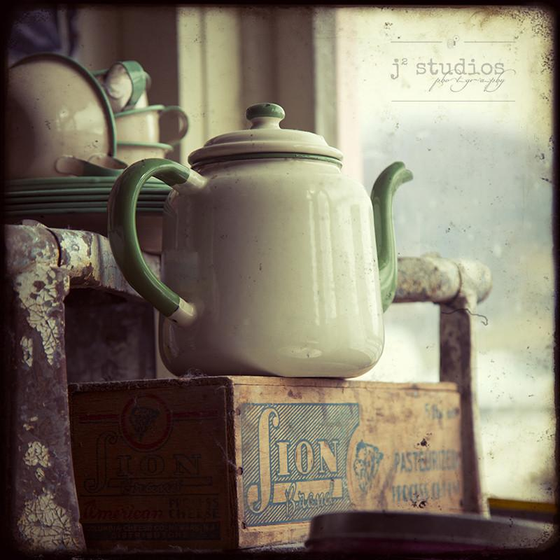 The Old Teapot - Antiques Vintage Photography Art Print