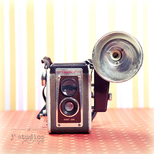 Vintage Camera #1 is an art print of the Kodak Duoflex Brownie Camera.