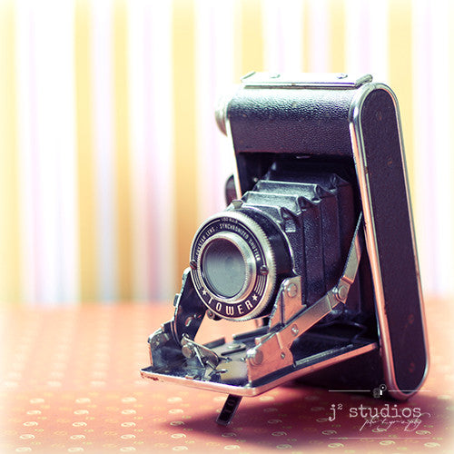 Vintage Camera #2 is an art print of a Folding Sears Tower Model 51 camera.