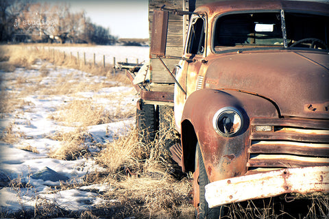 Weathered and Tough - Old Truck Rusty Jalopy Photography Art Print