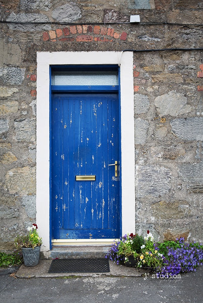 Image of a Greek Blue colored door that i saw in Great Britain. Doors and Windows Photography of the world