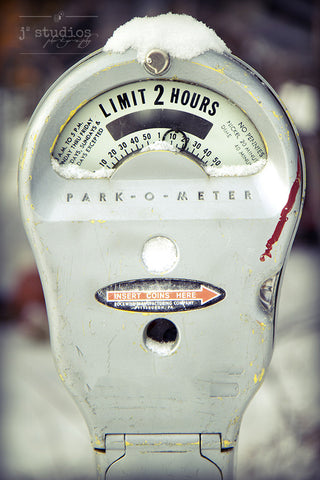 Limit of 2 Hours - Retro Parking Meter Photography Art Print