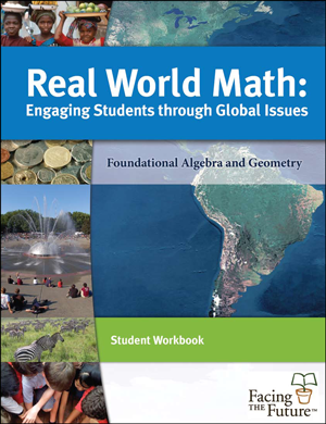 Real World Math, Global Sustainability Curriculum Student Workbook for Grades 6 to 12