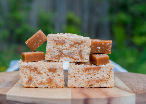 Salted Caramel & Brown Butter Rice Krispie Bars