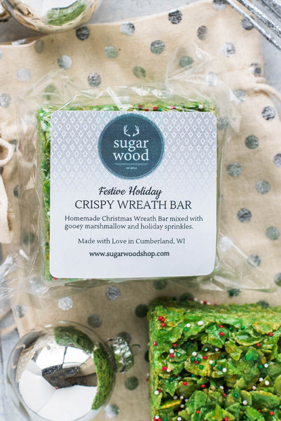 Festive Holiday Crispy Wreath Bar