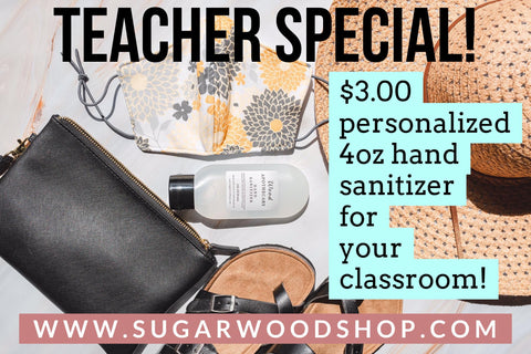 TEACHER SPECIAL 4 oz Hand Sanitizer