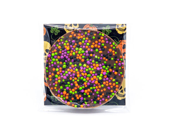 Halloween • Nonpareils • Milk Chocolate Disc