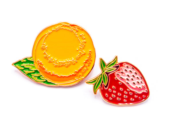 Valencia & Strawberry Blonde • 2 Enamel Pin Set
