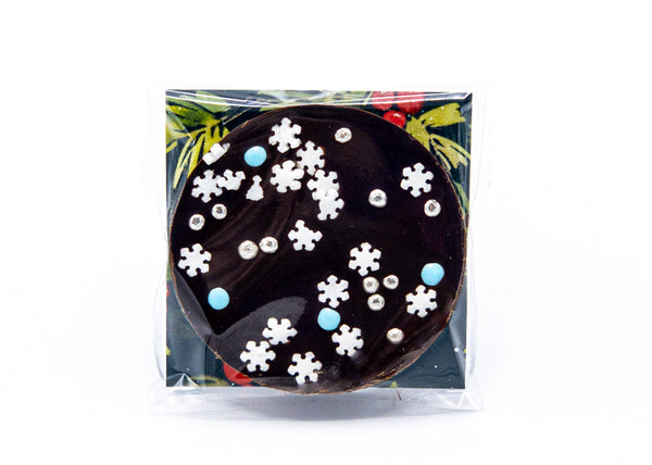 Happy Holidays • Sprinkles • Dark Chocolate Disc