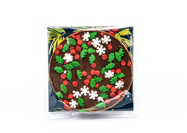 Happy Holidays • Sprinkles • Milk Chocolate Disc