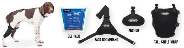 Medium Tall Stifle Pet Therapy Wrap with Therapy Gel