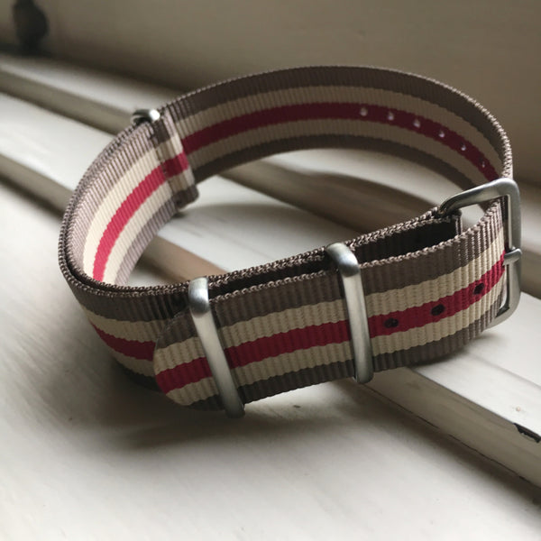 "22mm Premium ""Bucky"" Nylon Strap - Cincy Strap Works"