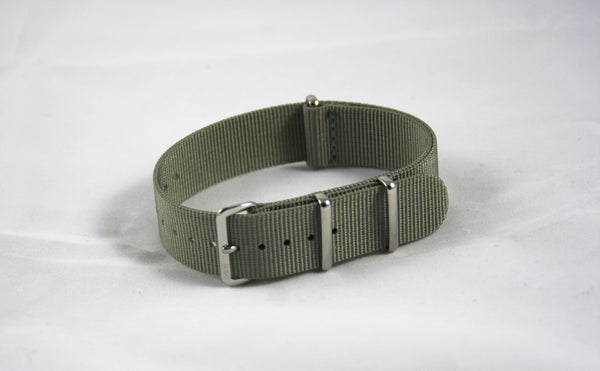 20mm Premium Gray Nylon - Cincy Strap Works