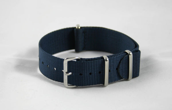 22mm Premium Navy Blue Nylon Strap - Cincy Strap Works