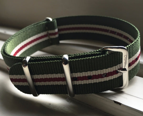 "20mm Premium ""Bilbao"" Nylon - Cincy Strap Works"
