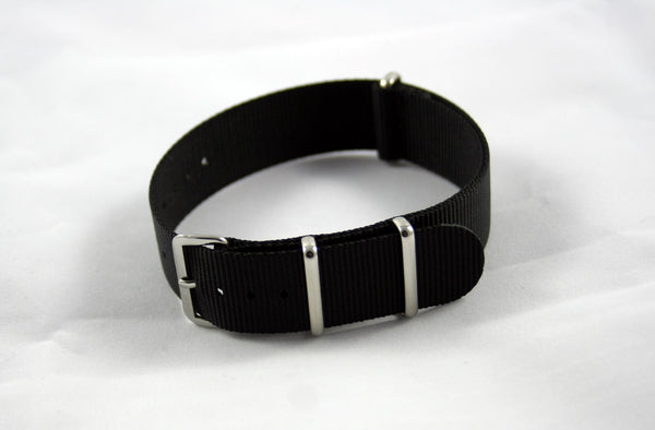 20mm Premium Black Nylon - Cincy Strap Works